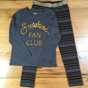 NWT Gymboree  Girls Long Sleeve Shirt and Pant Ou